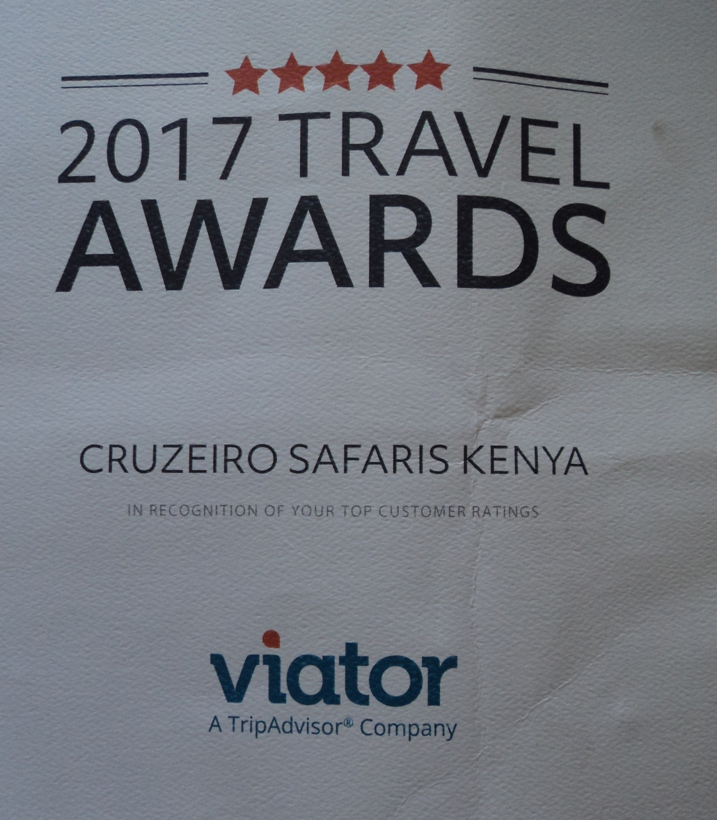 Top Travel Awards to Cruzeiro Safaris Kenya - Nairobi